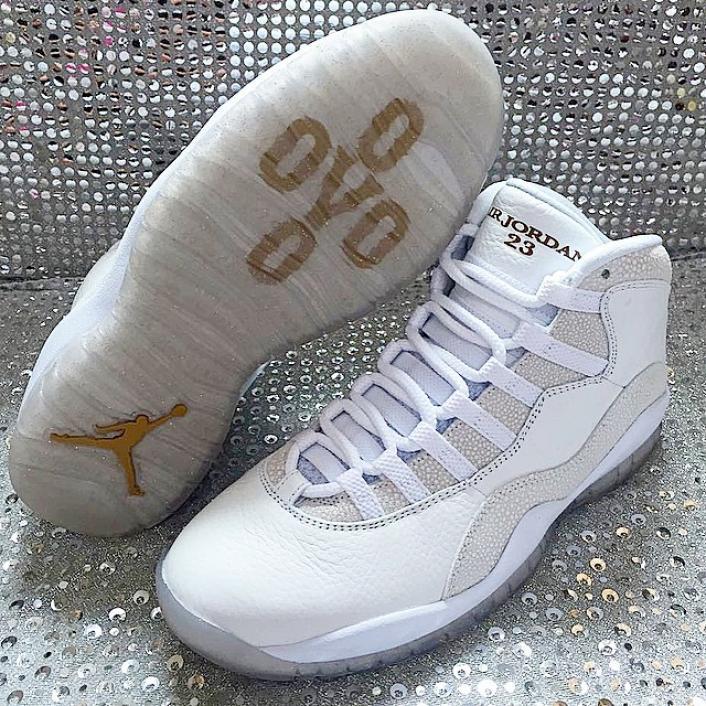 "air jordan 10 retro ovo ""ovo"" - summit white/metallic gold-wht ..."