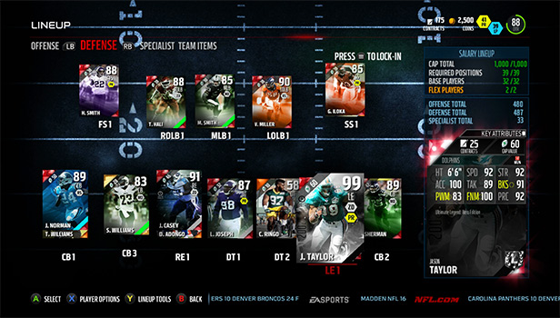 Gameplay in salary cap ranked ea has turned off injuries and