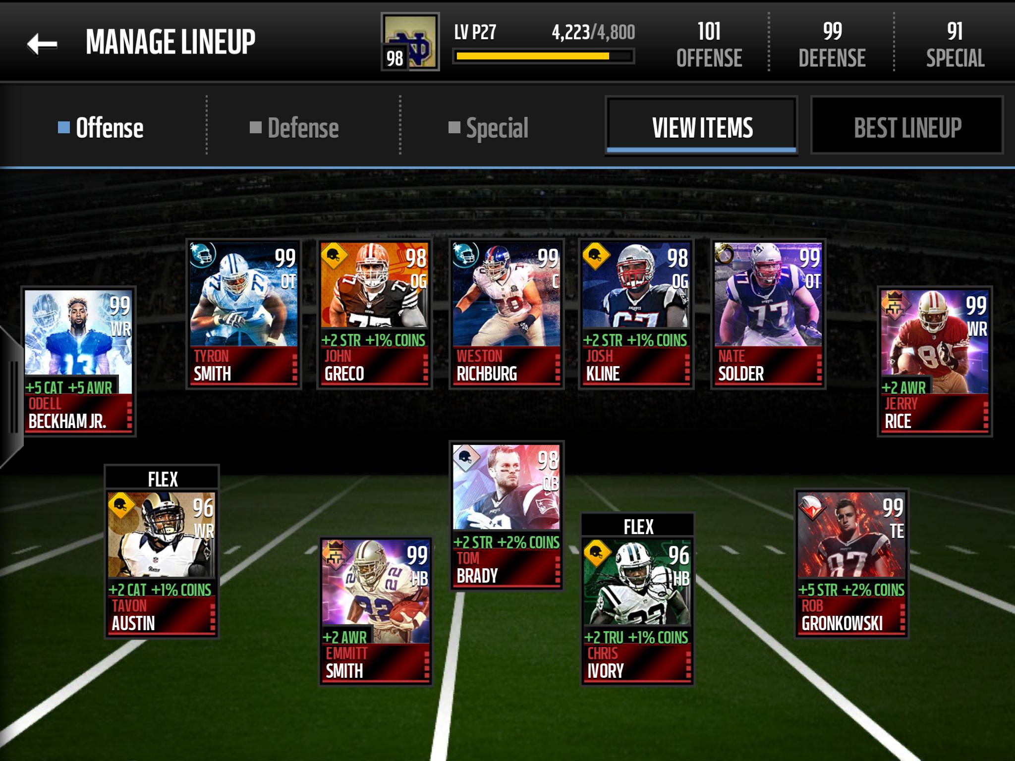 Slot receiver help - Madden NFL Mobile Discussion - Madden NFL Mobile - Madden NFL 18 Forums ...