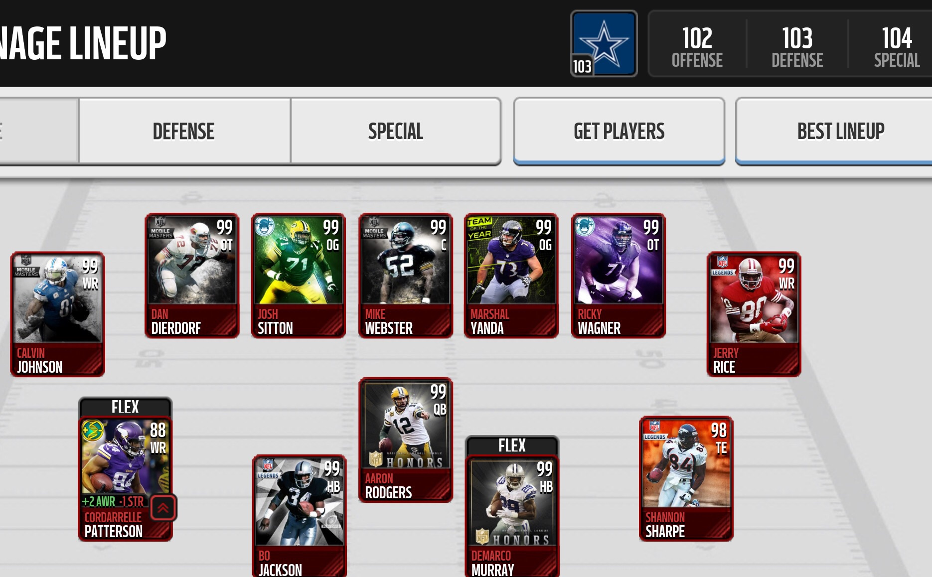 selling 103 ovr madden mobile team with 75 mil coins madden nfl