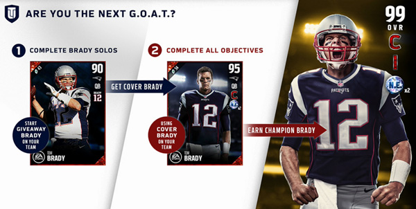 Brady rating in Madden 18