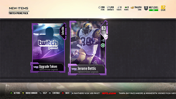 Jerome Bettis Twitch Prime Legends