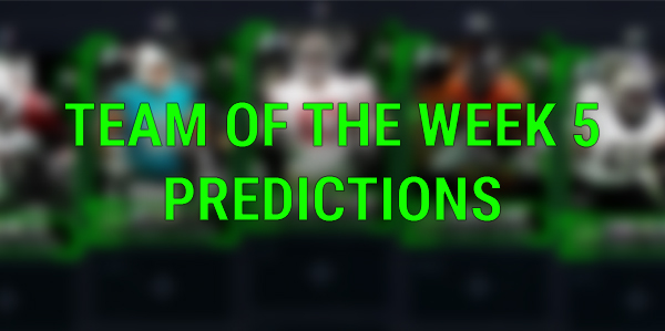Team of the Week 5 Predictions