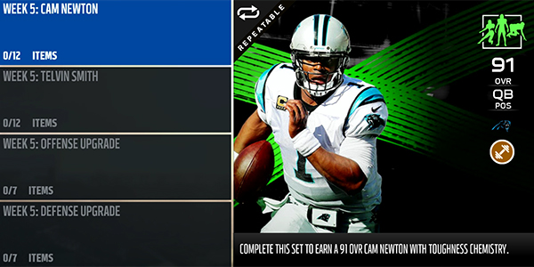 Cam Newton Telvin Smith TOTW5