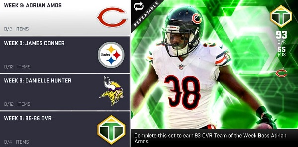 73b81de49 This week s TOTW Heroes are James Conner and Danielle Hunter. You can use  them to get the TOTW Boss Adrian Amos. See all of the new TOTW players and  their ...